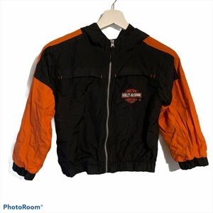 Harley Davidson kids 7 bomber jacket hood mesh